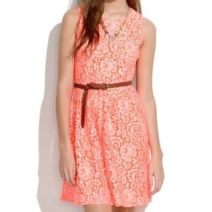 Madewell Neon Lace Blossom Dress